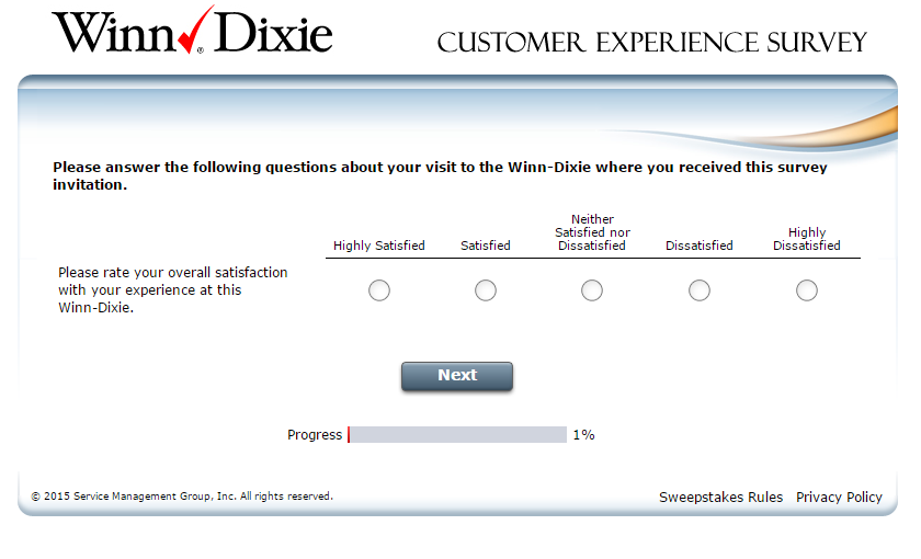 Winn Dixie Survey at www.winn-dixie-survey.com
