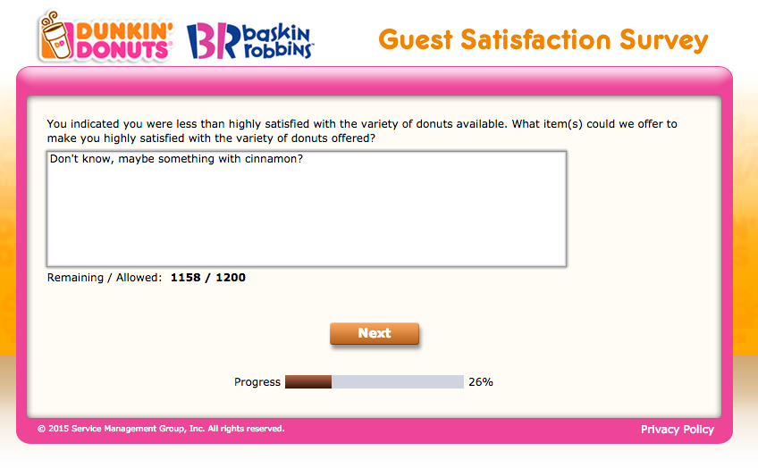 How to Take the Dunkin' Donuts Tell Dunkin Survey