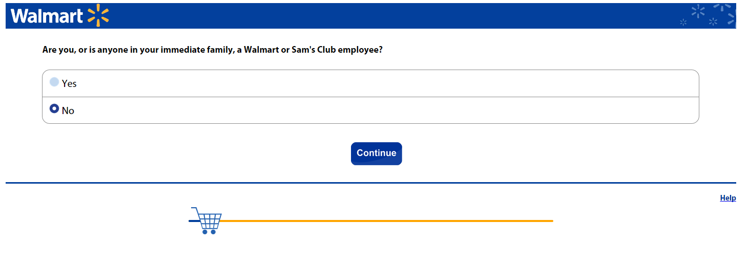 walmart survey screenshot 1