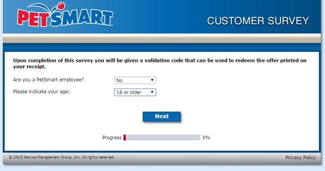 PetSmart Grooming Survey - screenshot 1