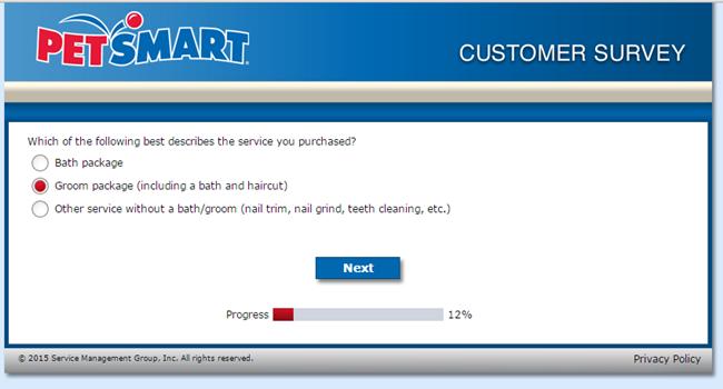 PetSmart Grooming Survey - screenshot 2