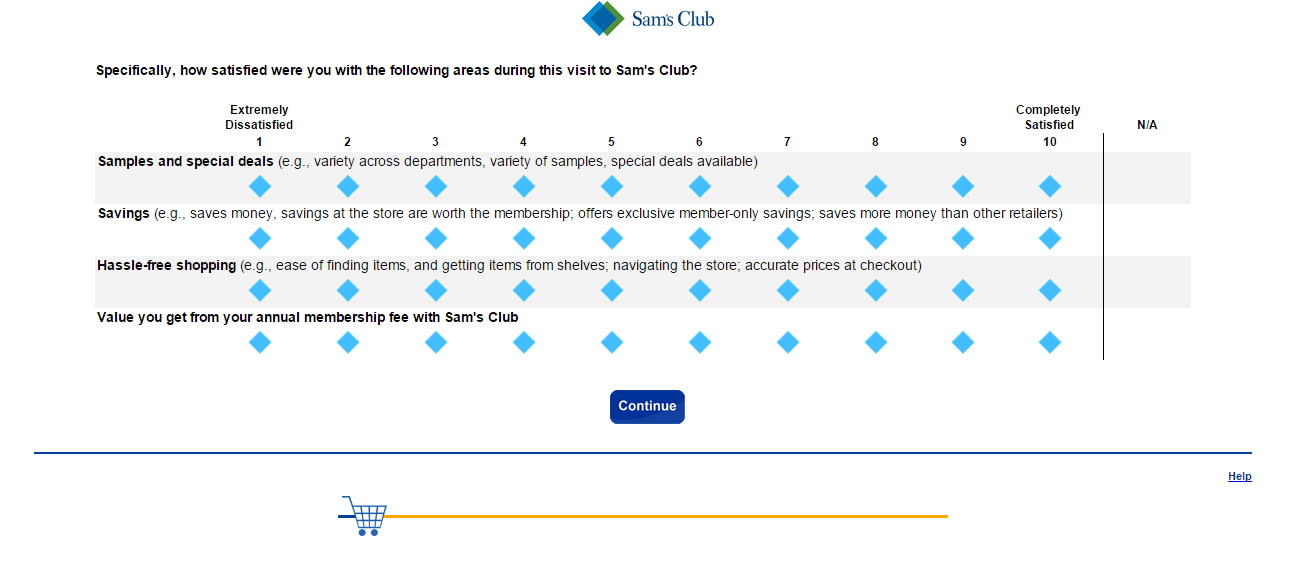 sam's club survey completion