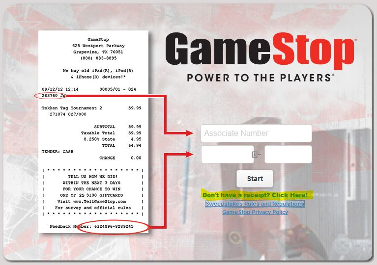 GameStop Survey at www.tellgamestop.com