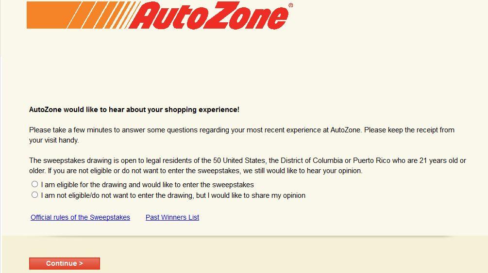 """autozone survey autozone.com www.autozonecares.com customer satisfaction opinion"""