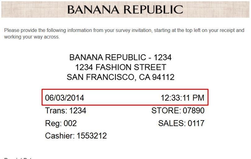"""banana republic survey www.survey4br.com coupons hours locations"""