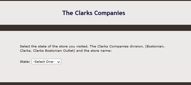 """clarks customer survey service clarks.com coupons"""