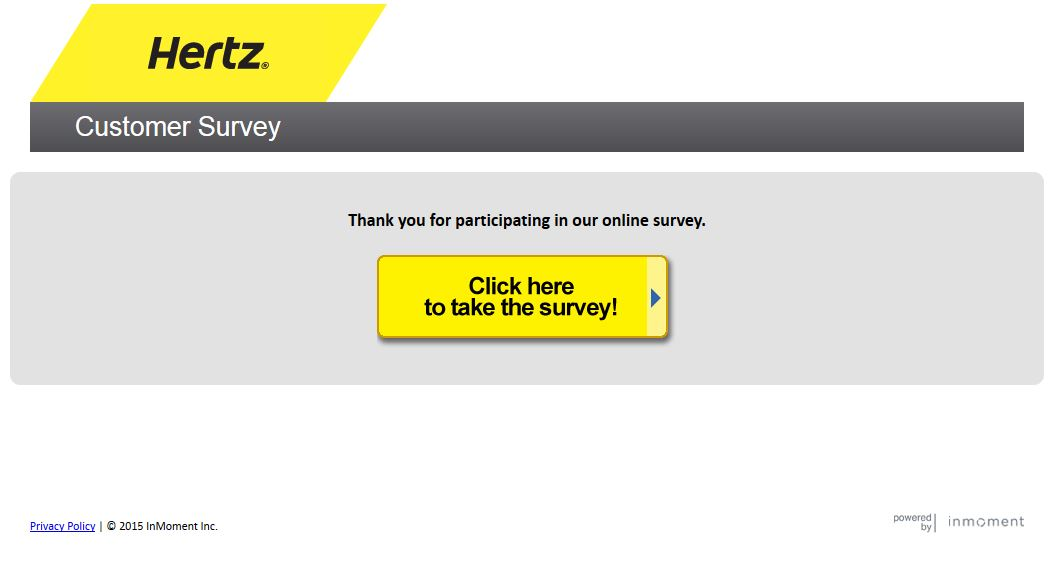hertz survey at happy customers review. Black Bedroom Furniture Sets. Home Design Ideas