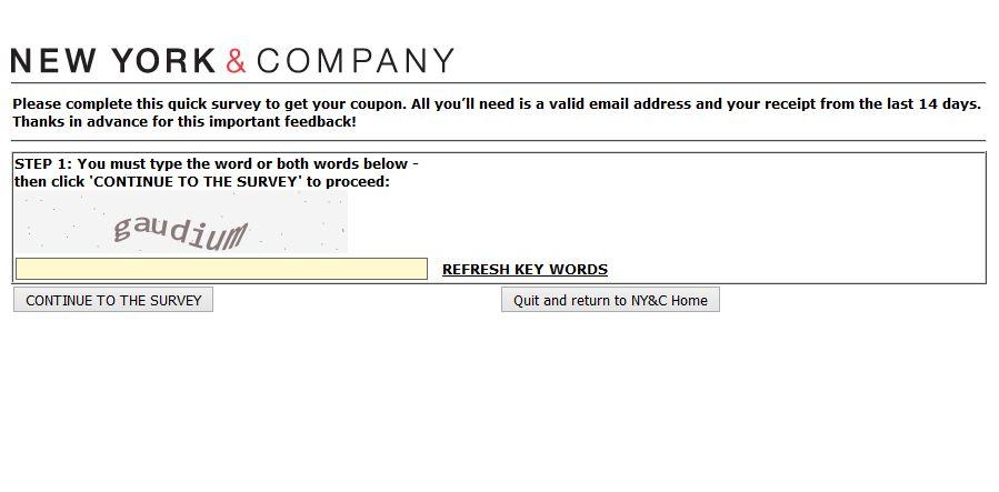 """tellus.nyandcompany nyandcompany ny & company coupon survey feedback"""
