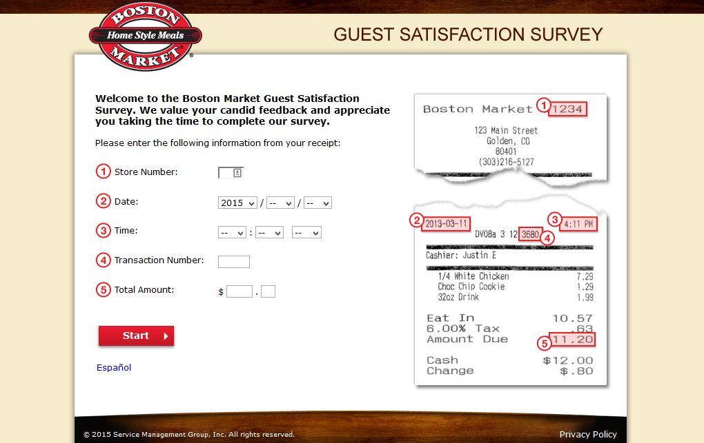 """boston market survey online survey vip club www.bostonmarket.com www.tellbostonmarket.com boston market codes boston market coupon code"""