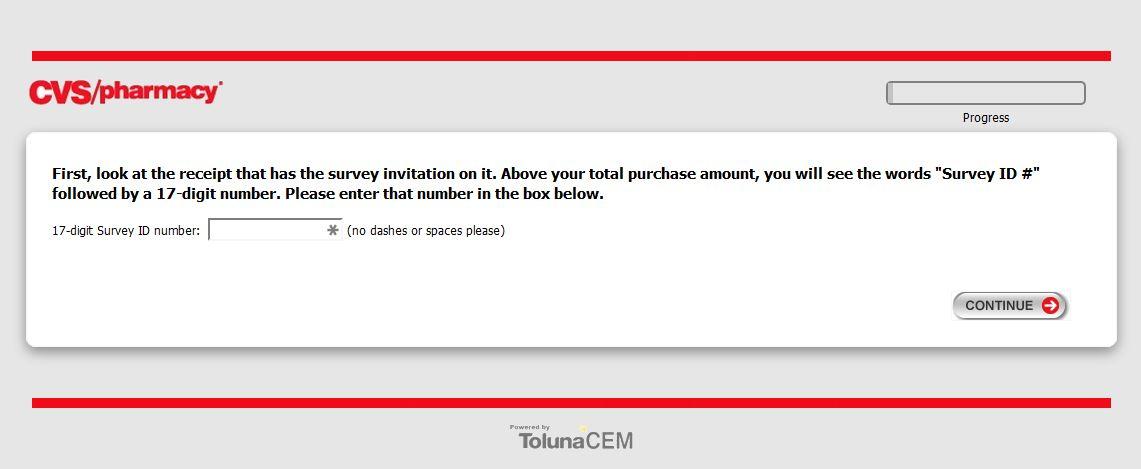 CVS Client survey screenshot of the second page