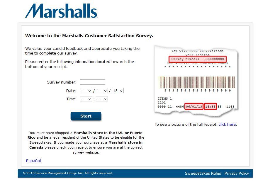 marshalls feedback survey
