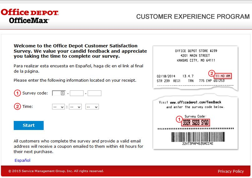 """office depot survey coupon survey feedback www.officedepot.com www.tellofficedepot.com"""