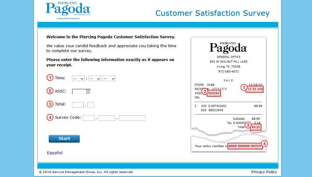 Piercing Pagoda Survey