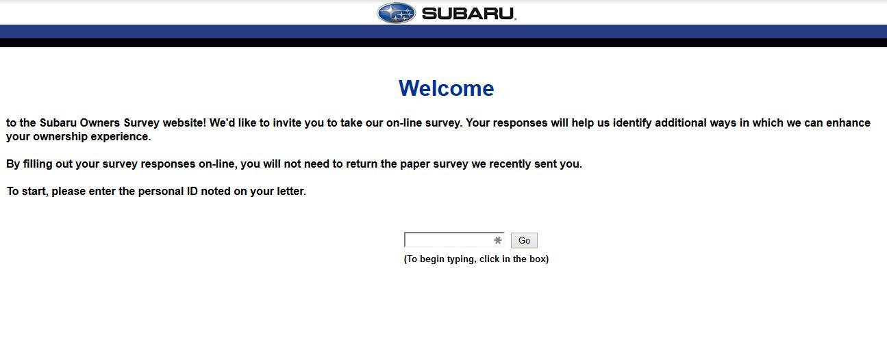 """www.survey.subaru.com subaru survey survey.subaru subaru survey questions subaru logo"""