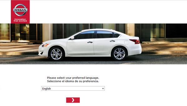 Screenshot of the Nissan Survey