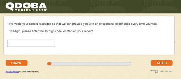 Qdoba client survey screenshot
