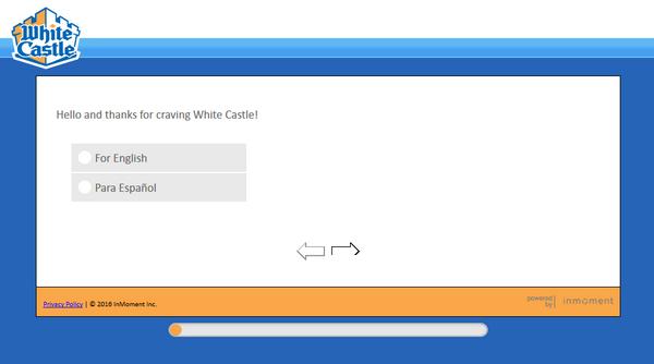 White Castle survey screenshot