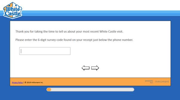 white castle client survey screenshot