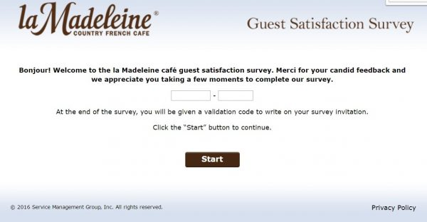 La Madeleine survey screenshot