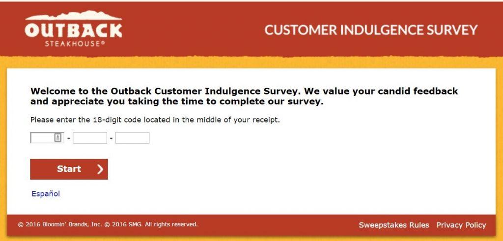 Outback survey screenshot