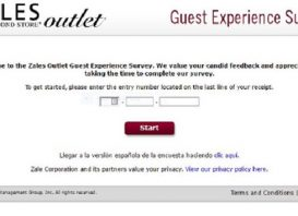 zales outlet survey first page screenshot