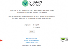 vitamin world survey the first page