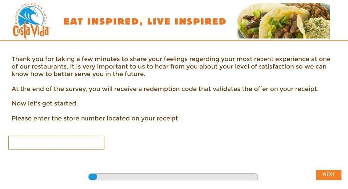 costa vida survey screenshot