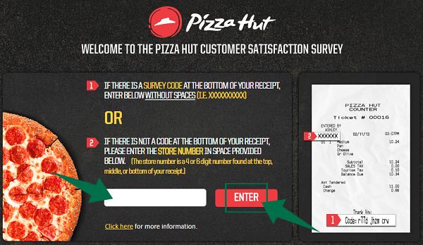 Pizza Hut Survey Guide Step 2