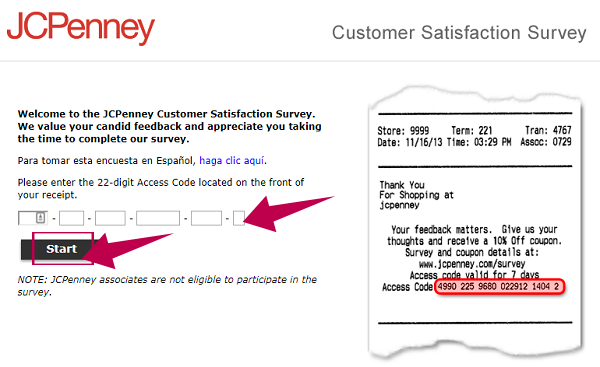 JCPenney Survey Guide