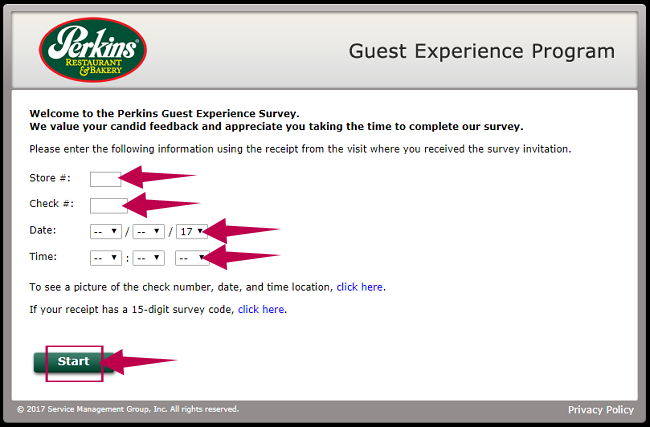 Perkins Experience Survey Guide