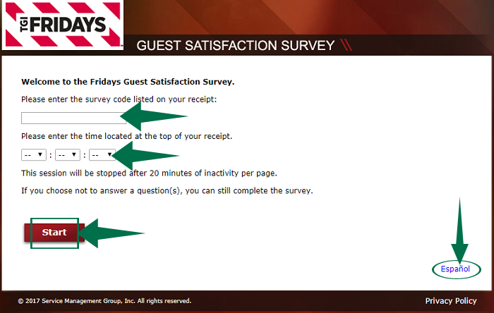 TGI Fridays Survey Guide