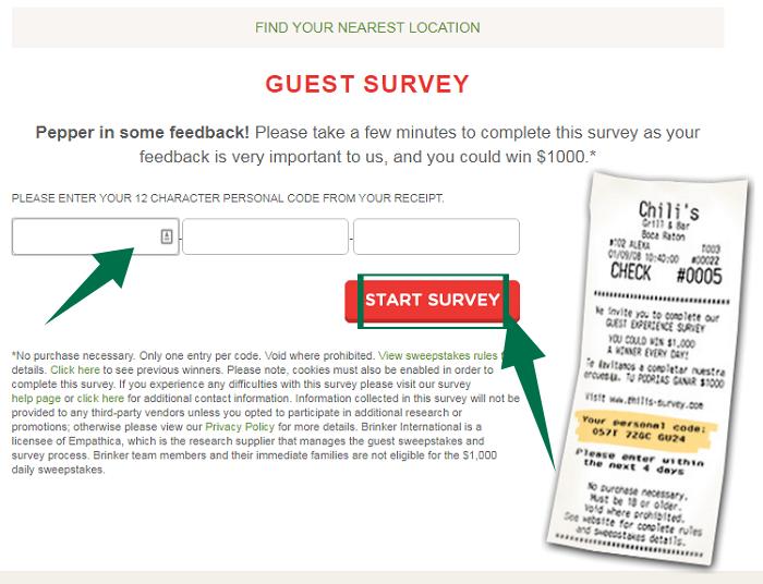 Chilis Survey Step 2