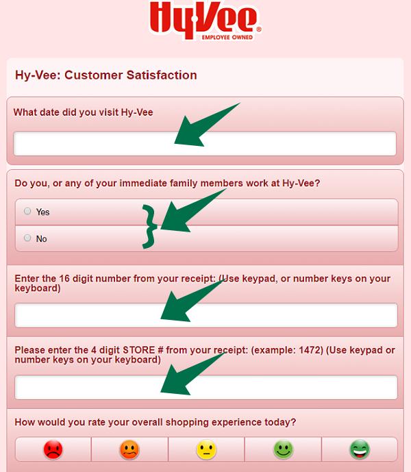 Hy Vee Survey Step 2