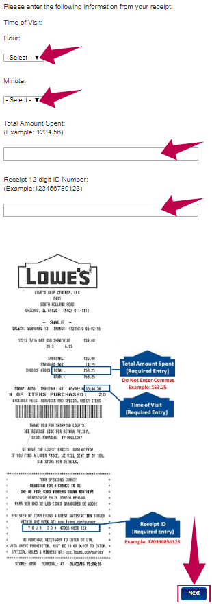 Lowes Survey Guide Step 3