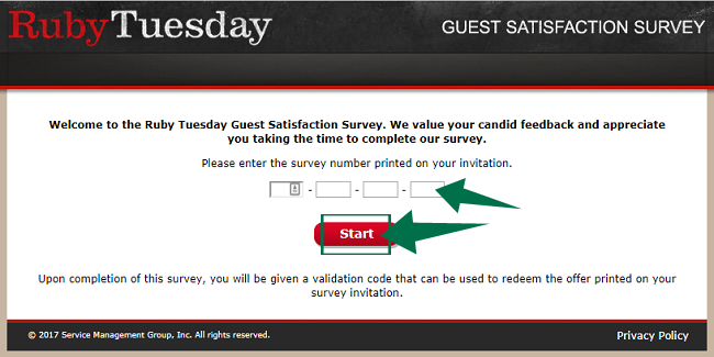 Tell Ruby Tuesday Survey Guide