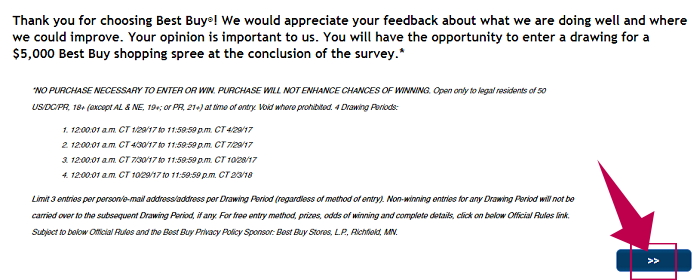 Best Buy Survey Step 2