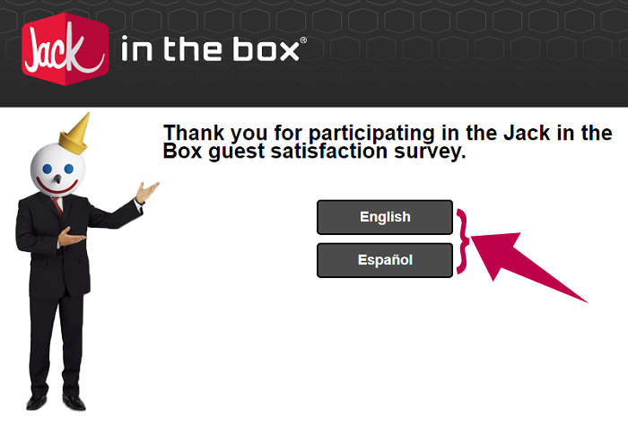 Jack in the Box Survey Step 1