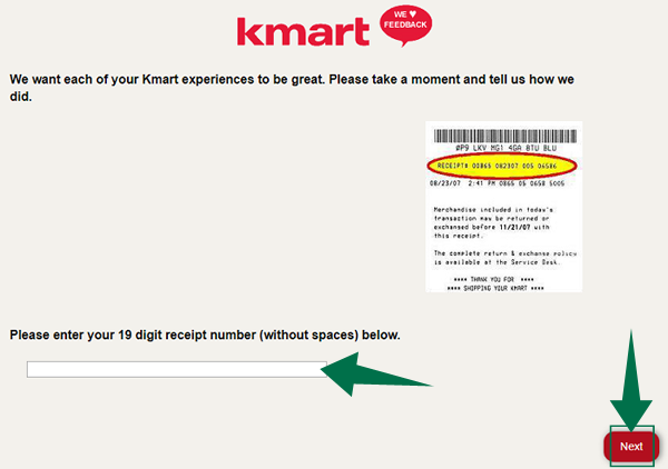 Kmart Feedback Survey Step 2