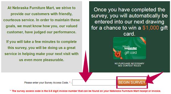 Nebraska Furniture Mart Survey at opinion.nfm.com | Happy ...