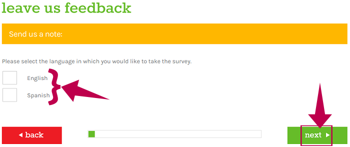 Peter Piper Pizza Survey Guide Step 1