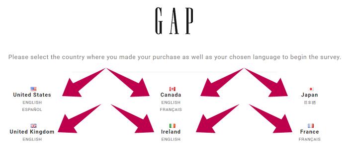 GAP Customer Survey Step 1