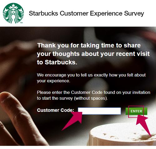 MyStarbucksVisit Survey Step 2