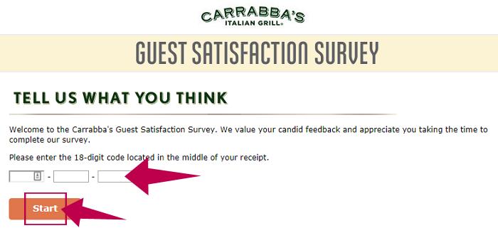 Carrabbas Guest Satisfaction Survey