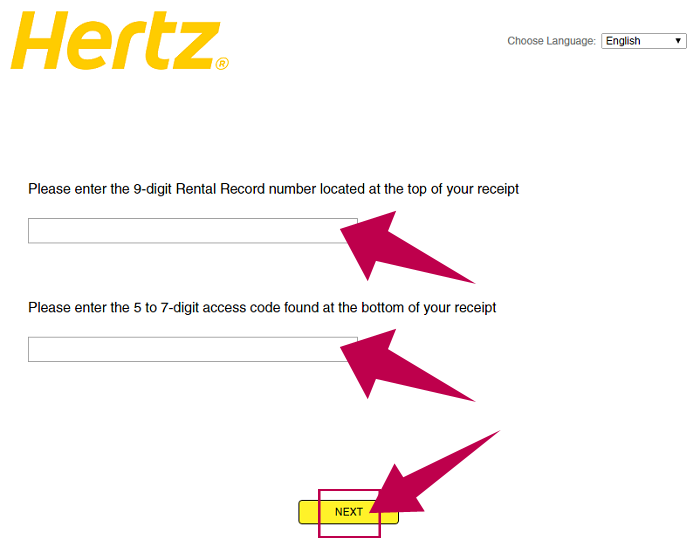 Hertz Guest Satisfaction Survey