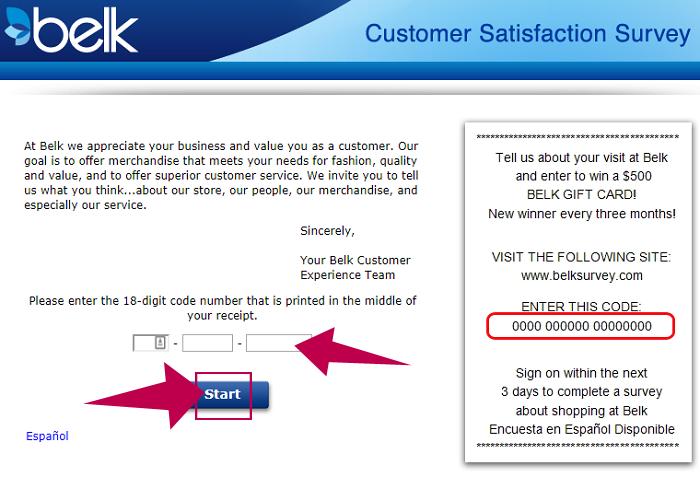 Belk Customer Satisfaction Survey