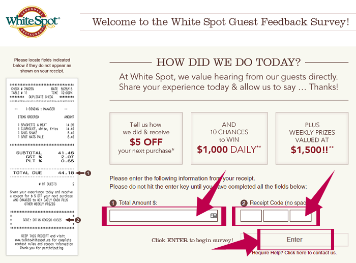 WhiteSpot Guest Feedback Survey