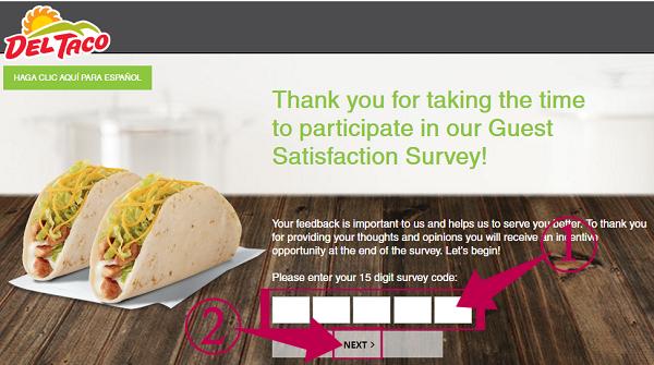 Del Taco Survey Guide