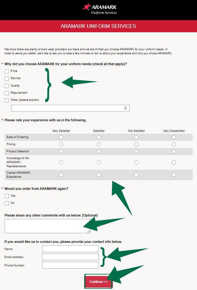 Aramark Survey Guide