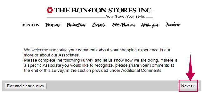 Bonton Survey Step 1