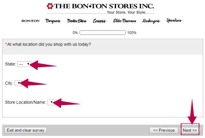 Bonton Survey Step 2